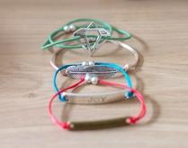"Bracelets ""pretty words"" 8€"